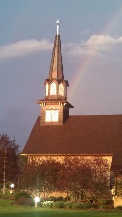 Rainbow over St Olaf